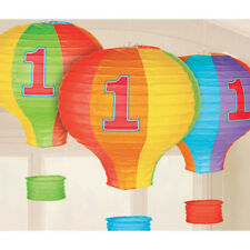 1st BIRTHDAY RAINBOW HOT AIR BALLOON PAPER LANTERNS (3) ~ First Party Supplies