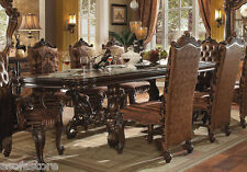 Royal Traditional Antique Cherry Finish 9Pc Dining Table Set Chairs Dining Room