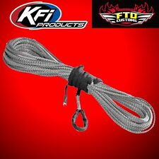 """KFI SYN19-S50 3/16"""" Synthetic 50' ATV Winch Cable (Smoke) for 3500lb Winches"""
