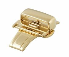 16mm Hadley-Roma Push Button Deployment Clasp High Polish Yellow Gold BKL100Y