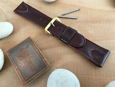 """3/4"""" 19mm Shell Cordovan Vintage Watch Band 1950s New Old Stock Gemex Short nos"""