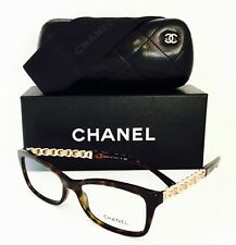 New Chanel Eyeglasses 3264 Q 1512 Dark Havana/Gold 54•16•140 With Cases