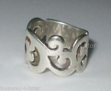 2006 SILPADA .925 Sterling Silver Scroll Cuff Ring R1200 SIZE 9 RARE Retired