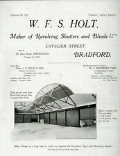 c1915 -  trade catalogue -  shutters, blinds, garage doors -  Bradford.