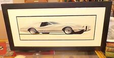 1969 ORIGINAL PONTIAC GRAND PRIX STUDIO ART FRAMED AND MATTED SIGNED CAMP 10.69