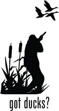 "Got Ducks Hunting Car Window Decor Vinyl Decal Sticker- 6"" Tall White"