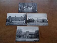 4 Vtg Postcards Real BW photo HATFIELD HOUSE HERTFORDSHIRE Country Stately home