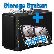 10TB (2x5TB) Synology Disk Station DS216 Netzwerkspeicher Gigabit NAS Netzwerk