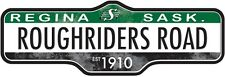 SASKATCHEWAN ROUGHRIDERS STREET SIGN