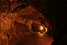 Framed Print - Lava Tube Under the Hawaiian Big Island (Picture Poster Art)