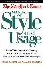 The New York Times Manual of Style and Usage by William G. Connolly and Allan...