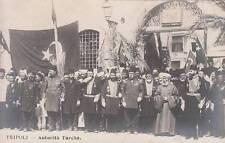 A7405) LIBIA, TRIPOLI, AUTORITA' TURCHE CIVILI E MILITARI PRIMA DELL'OCCUPAZIONE