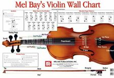 MEL BAY VIOLIN WALL CHART Learn to Play Music BOOK MAJOR SCALES FIRST POSITION