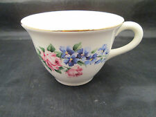 Universal Potteries, Cambridge O. Cup Pattern #E-51 Roses & Blue Flowers