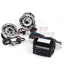 New Motorcycle Bike Audio Player iPod Radio Sound System Stereo Set w/Speaker FM