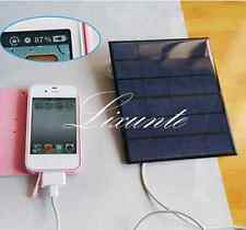 1PC 6V Solar Panel USB Travel Power Bank Battery Charger For Cellphone Tablet xt