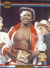 "MICHAEL ""DYNAMITE"" DOKES - Boxing Trading Card - 1991 Ringlords"