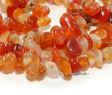 CARNELIAN RED AGATE GEMSTONE CHIP 13X5MM LOOSE BEADS 16""