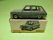 DINKY TOYS 1453  RENAULT 6 - GREY 1:43 - RARE SELTEN - EXCELLENT IN BOX