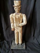 FOLK ART CARVED PAINTED WOOD  Abraham Lincoln- Jointed Arms -