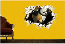 Fashion Wall Decal 3D Kungfu Panda Kids Room Decor Wall Sticker Boy Gift