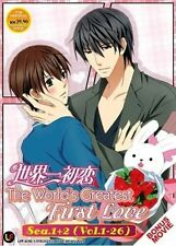 DVD ANIME SEKAI ICHI HATSUKOI Season 1+2+Movie The World's Greatest First Love