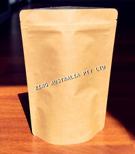100X 70G(200ML) Stand Up Pouch Kraft Paper Bag Without Window Zip Lock