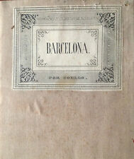 CATALUÑA, BARCELONA. Francisco Coello. Mapa grabado original. Madrid 1860