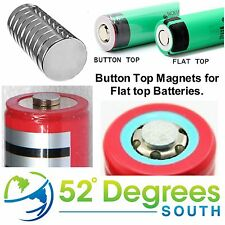 18650, 18350 Button Top Magnet -  Change Flat Top Battery to Button Top