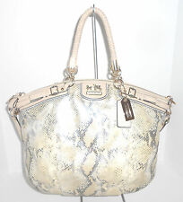 Coach Madison Embossed Python Leather Lindsey Large Bag 18941 $698