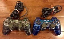 Lot of 2 Sony PlayStation Dualshock 2 (SCPH10010) Gamepad Controller PS1 PS2