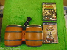 gamecube DONKEY KONG Konga + Jungle Beat + BONGOS Nintendo PAL UK Version