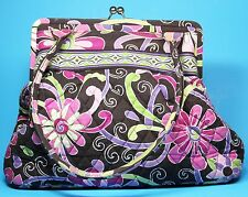 Vera Bradley Alice Purple Punch Handbag Kiss Lock Quilted Shoulder Bag