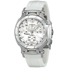T0482171701700 Tissot T-Race Women's Chronograph White Rubber Strap Watch Ladies