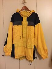 Columbia Vtg Half Zip Windbreaker Hooded Nylon Backpacking Hiking Jacket Mens XL
