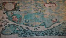 John Boydell-Plan de la ciudad y puerto de Mahón, St Philips Castillo Grabado c1750