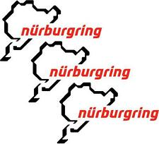 3 X Nurburgring car bike sticker vinyl decal 13cm x8cm