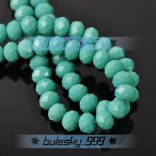 Bulk Wholesale Crystal Glass Loose Beads Rondelle Faceted 4MM 6MM 8MM 10MM Lot