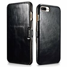 Apple iPhone 7 Plus Genuine Leather Case Flip Folio Style Cover Magnetic Closure