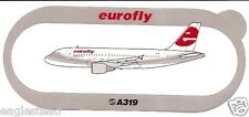 Baggage Label - eurofly - A319 - Airbus - Sticker (BL494)