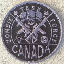 "Halloween Costume Patch - ZOMBIE TASK FORCE CANADA - 3.5"" with Vel-cro on back"