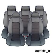 FULL SET 5X BLACK PREMIUM COMFORT PADDED SEAT COVERS 5 SEATER RENAULT SCENIC