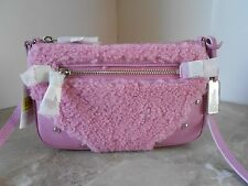 New COACH 36490 SHERLING Small Rhyder Pouchette Crossbody $195 MARSHMALLOW PINK