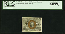Fractional Note: Fr. 1246 10 Cents Pcgs 64 Ppq - 2nd Issue 10c