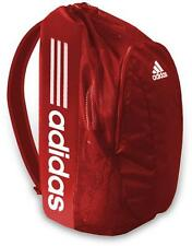 New Adidas NELSON WRESTLING GEAR BAG RED WHITE BACKPACK DUFFLE BAG