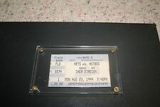1999 New York Mets Vs. Houston Astros Ticket stub