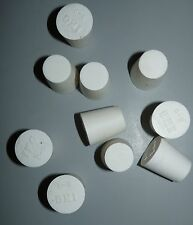 LOT OF 10 NEW COLE PARMER 06298-10 SILICONE STOPPERS SIZE 5 LIGHTWEIGHT WHITE