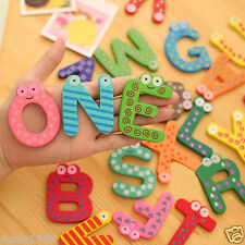 26 Letters Wooden Cartoon Alphabet Fridge Magnet kid Baby Child Educational Toy