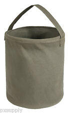 "WATER BUCKET CANVAS OLIVE DRAB MEDIUM 10"" X 9""  COLLAPSIBLE ROTHCO 9006"