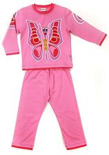 KIDiD Kid Girls Pyjamas Age 2-3 Years Childrens Child Small Pink Butterfly Pjs